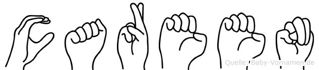 Careen im Fingeralphabet der Deutschen Gebärdensprache