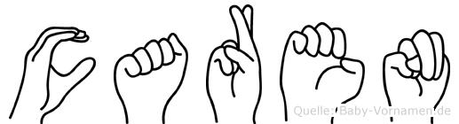 Caren im Fingeralphabet der Deutschen Gebärdensprache