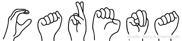 Carena in Fingersprache für Gehörlose