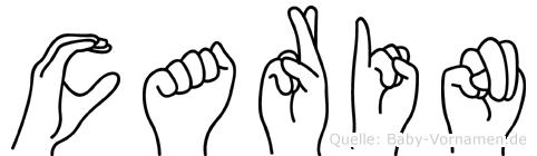 Carin in Fingersprache für Gehörlose
