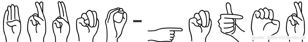 Bruno-Günter im Fingeralphabet der Deutschen Gebärdensprache