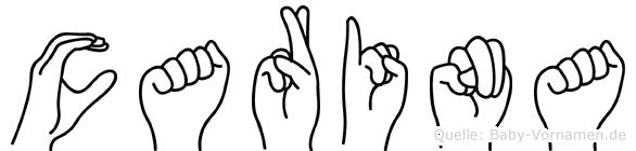 Carina in Fingersprache für Gehörlose