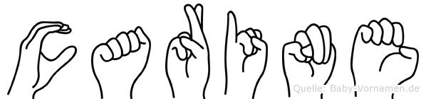 Carine in Fingersprache für Gehörlose