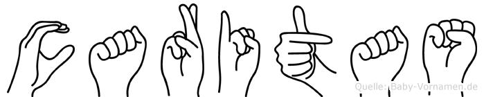 Caritas im Fingeralphabet der Deutschen Gebärdensprache