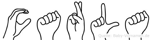 Carla in Fingersprache für Gehörlose