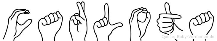 Carlota im Fingeralphabet der Deutschen Gebärdensprache