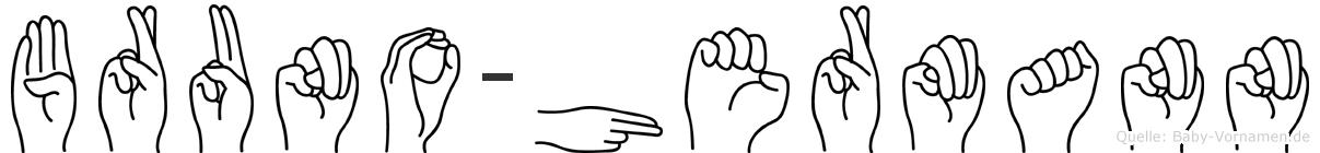 Bruno-Hermann im Fingeralphabet der Deutschen Gebärdensprache
