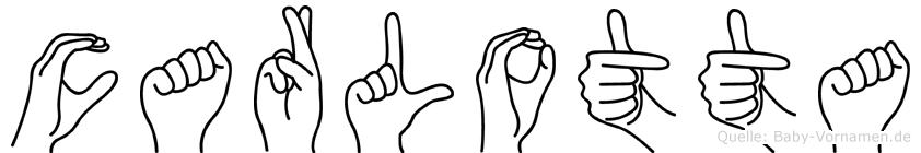 Carlotta in Fingersprache für Gehörlose