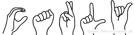 Carly im Fingeralphabet der Deutschen Gebärdensprache