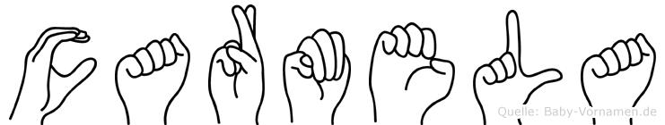 Carmela im Fingeralphabet der Deutschen Gebärdensprache