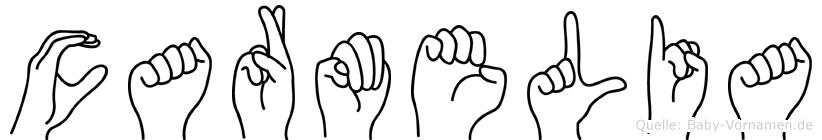 Carmelia in Fingersprache für Gehörlose