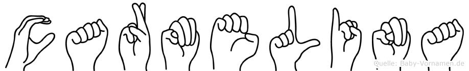 Carmelina in Fingersprache für Gehörlose