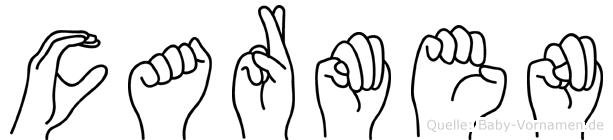 Carmen in Fingersprache für Gehörlose
