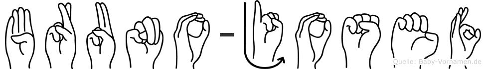 Bruno-Josef im Fingeralphabet der Deutschen Gebärdensprache