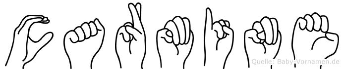 Carmine in Fingersprache für Gehörlose