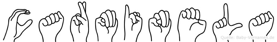 Carminela in Fingersprache für Gehörlose