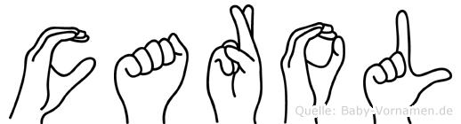 Carol in Fingersprache für Gehörlose