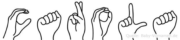 Carola im Fingeralphabet der Deutschen Gebärdensprache