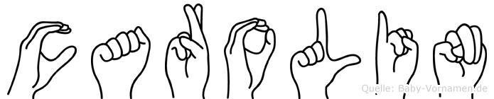 Carolin im Fingeralphabet der Deutschen Gebärdensprache