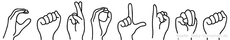 Carolina im Fingeralphabet der Deutschen Gebärdensprache