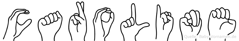 Caroline in Fingersprache für Gehörlose
