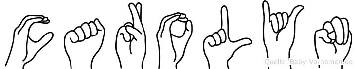 Carolyn in Fingersprache für Gehörlose