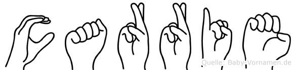 Carrie in Fingersprache für Gehörlose