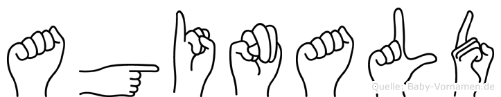 Aginald im Fingeralphabet der Deutschen Gebärdensprache