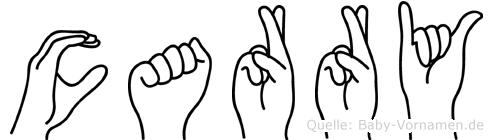 Carry im Fingeralphabet der Deutschen Gebärdensprache