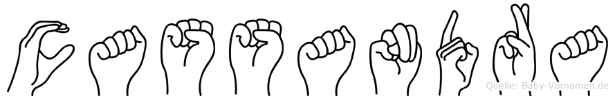 Cassandra in Fingersprache für Gehörlose