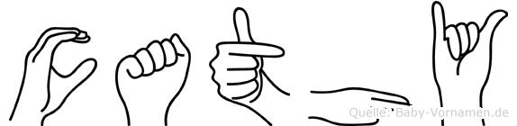 Cathy in Fingersprache für Gehörlose