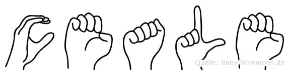 Ceale im Fingeralphabet der Deutschen Gebärdensprache
