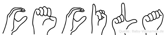 Cecila in Fingersprache für Gehörlose