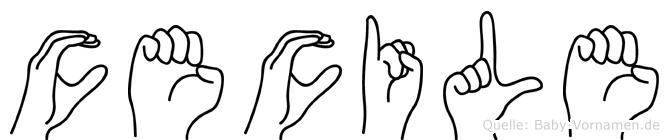 Cecile in Fingersprache für Gehörlose