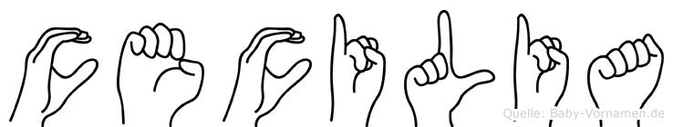 Cecilia in Fingersprache für Gehörlose