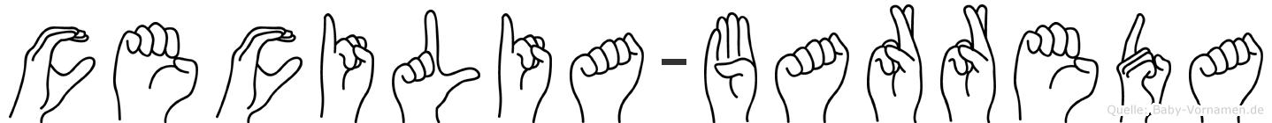 Cecilia-Barreda im Fingeralphabet der Deutschen Gebärdensprache