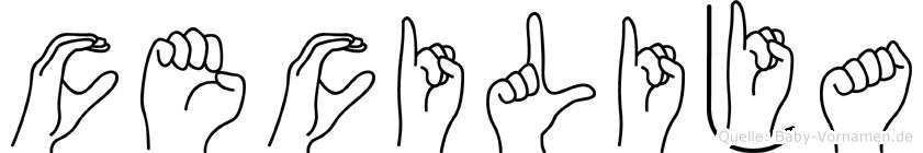 Cecilija im Fingeralphabet der Deutschen Gebärdensprache
