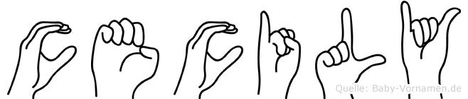 Cecily in Fingersprache für Gehörlose