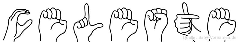 Celeste im Fingeralphabet der Deutschen Gebärdensprache