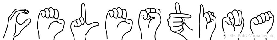 Celestina im Fingeralphabet der Deutschen Gebärdensprache