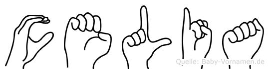 Celia in Fingersprache für Gehörlose