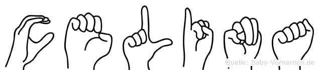 Celina in Fingersprache für Gehörlose