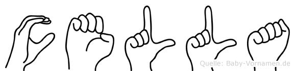 Cella im Fingeralphabet der Deutschen Gebärdensprache