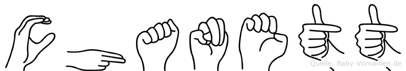 Chanett in Fingersprache für Gehörlose