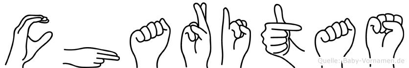 Charitas in Fingersprache für Gehörlose