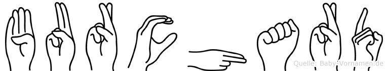 Burchard im Fingeralphabet der Deutschen Gebärdensprache