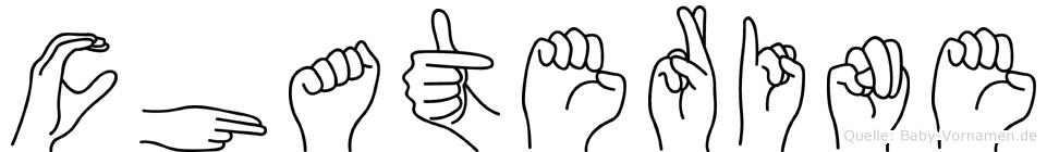 Chaterine in Fingersprache für Gehörlose