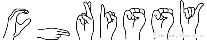 Chrissy in Fingersprache für Gehörlose