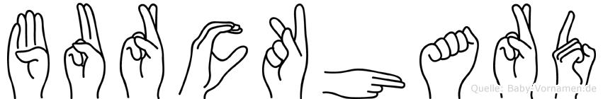 Burckhard im Fingeralphabet der Deutschen Gebärdensprache