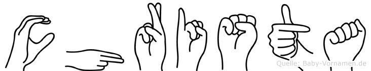 Christa in Fingersprache für Gehörlose